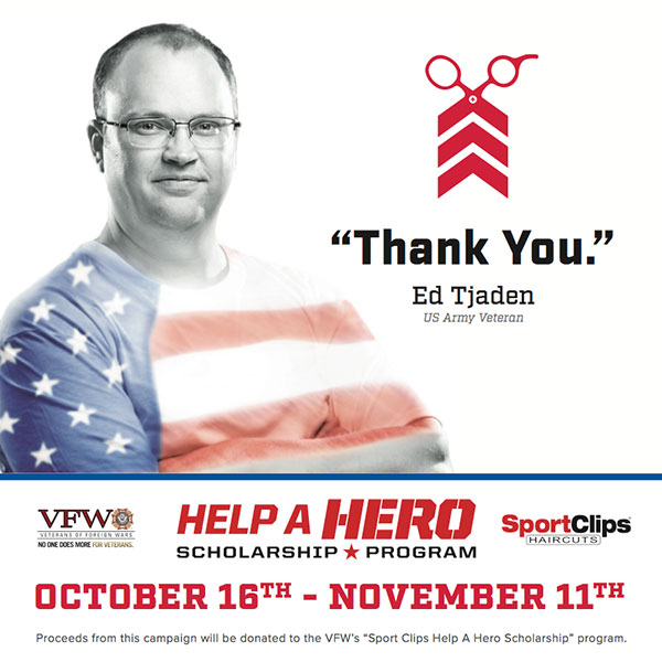 A Decade of Support for Sport Clips Haircuts' Help A Hero