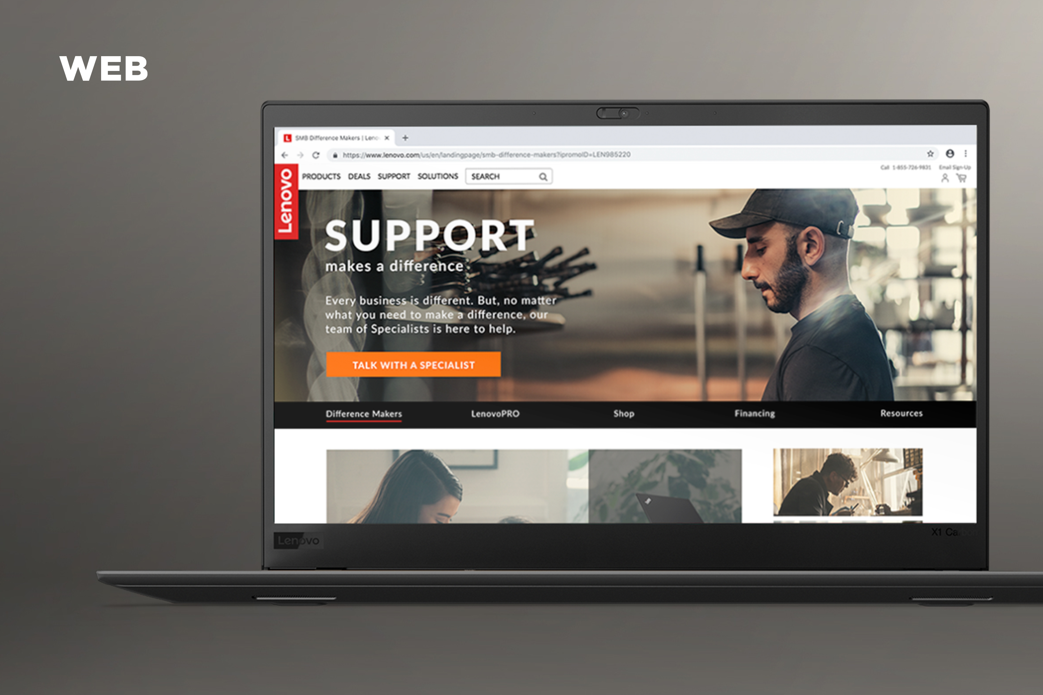 Lenovo Difference Makers Web